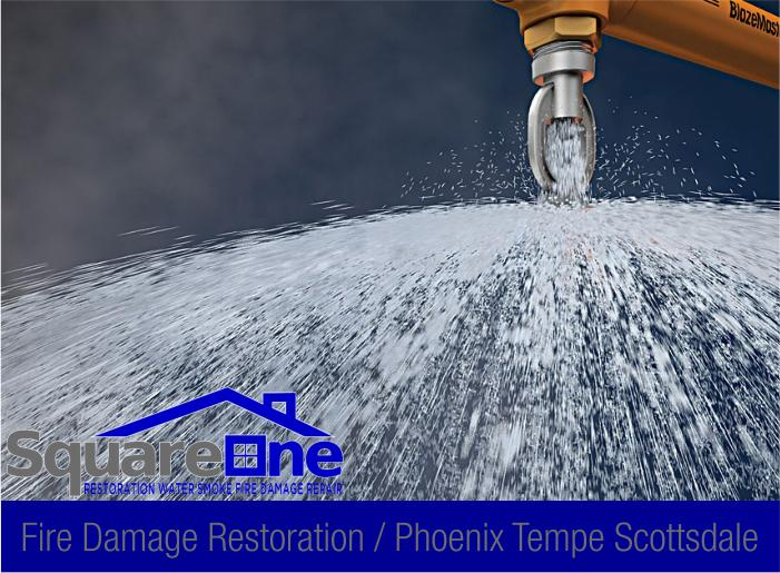 9 fire sprinkler malfunction smoke damage repair phoenix scottsdale tempe 78