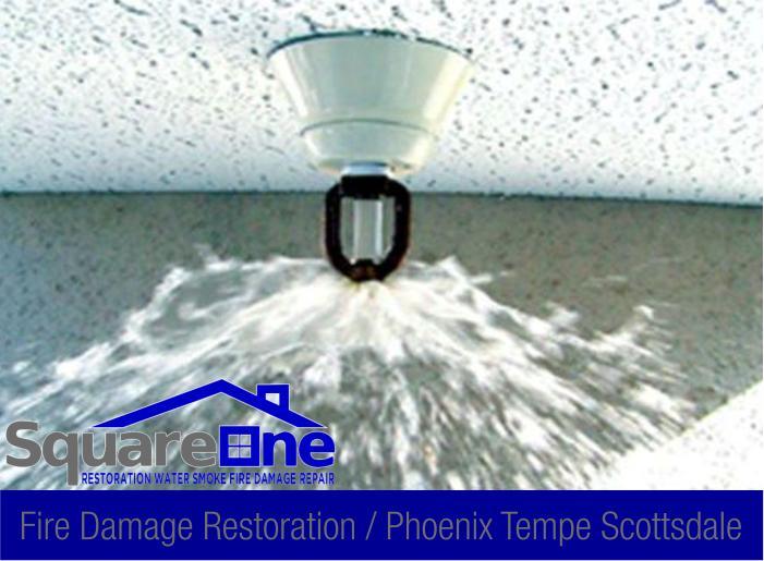 9 fire sprinkler malfunction smoke damage repair phoenix scottsdale tempe 87