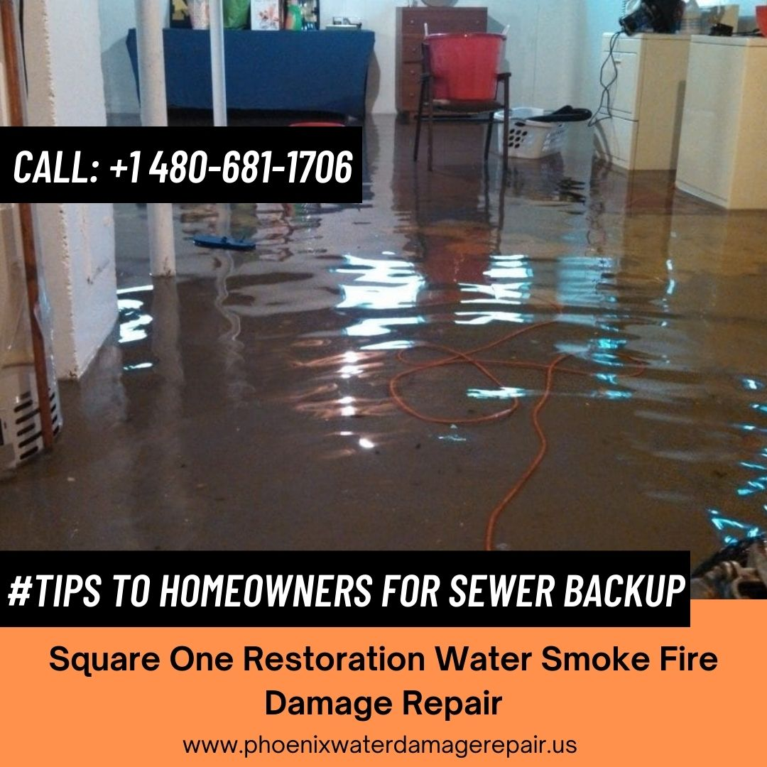 Tips to Homeowners for Sewer BackUp.